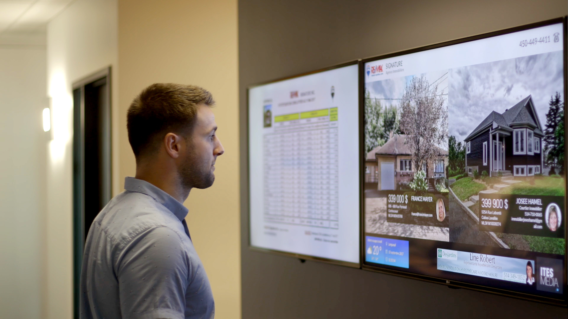 real estate digital signage