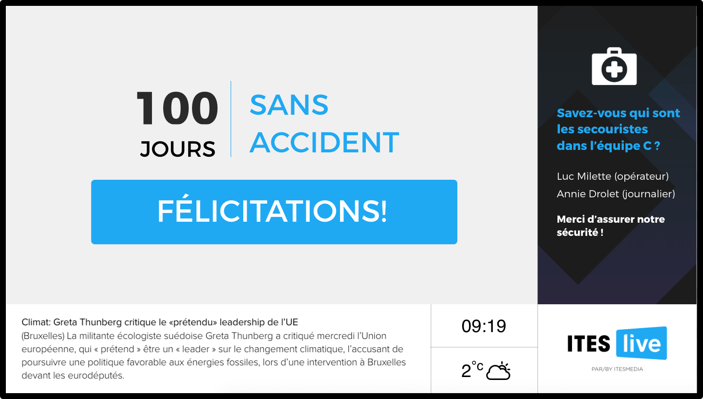 100 jours sans accident