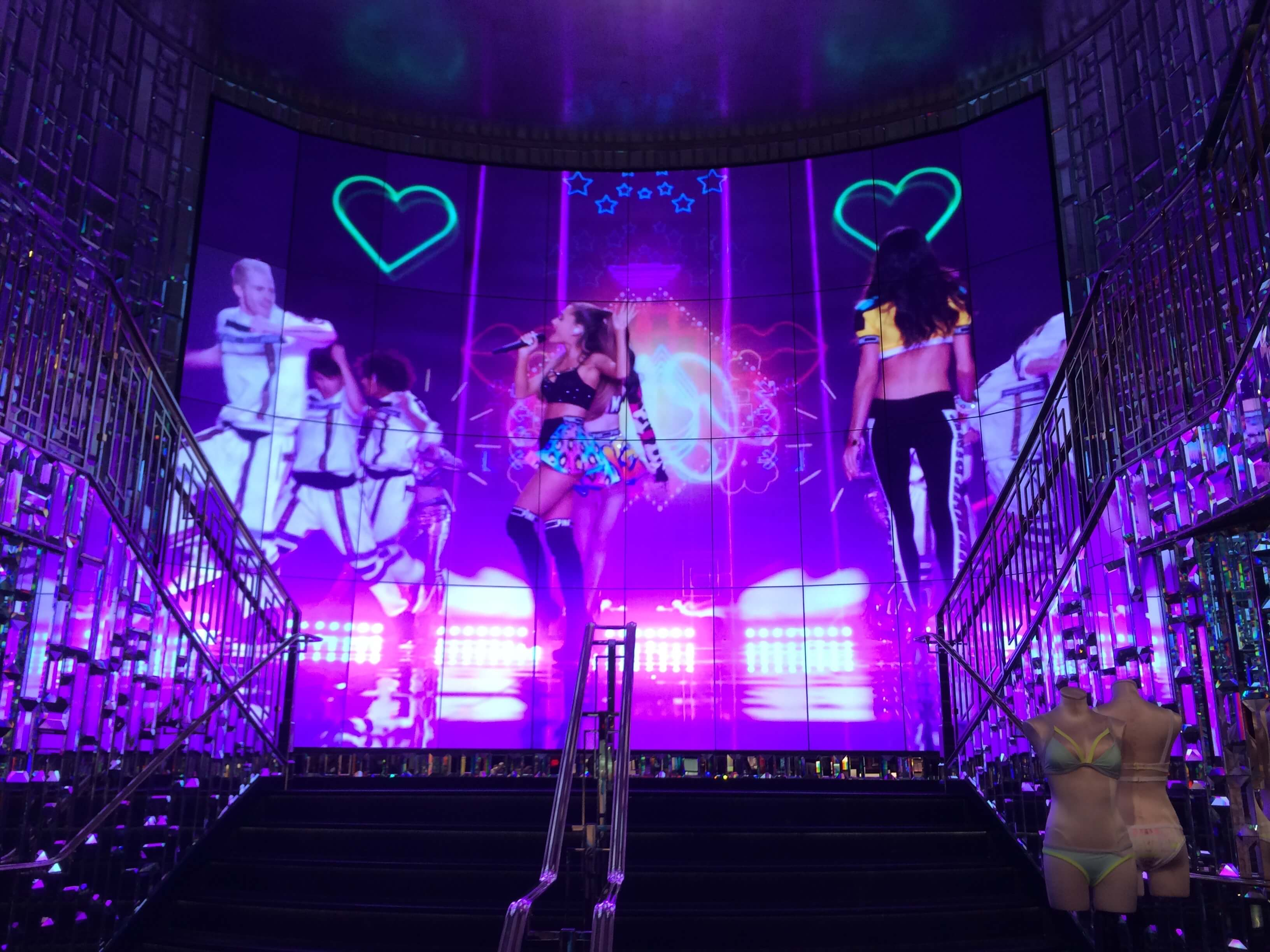 Victoria's secret - video wall